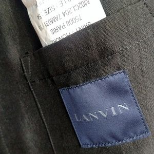 Lanvin Jackets & Coats - Pre-owned Lavin Men's Silk and Cotton Jacket Black
